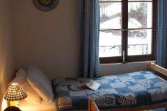 Switzerland blue bed snowa