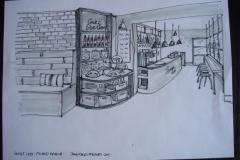 Lounge cafe bar draing