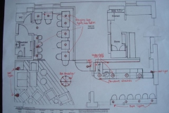 Lounge cafe floor plan design
