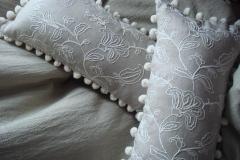 Linen bobble cushionsa