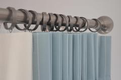 Pinstripe curtain headinga
