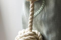 Rope knot holdback
